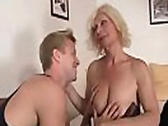 Pretty blonde mom gets doggy-fucked