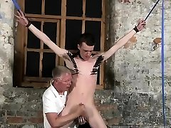 Gay bareback porn video Sean McKenzie is corded up and at