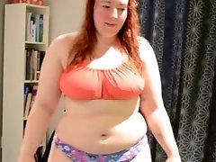 Sexy BBW Trying On Bikini & Talking