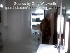 OLD WOMAN IS SHITTING IN FRONT OF A GUY BEHIND WINDOW!