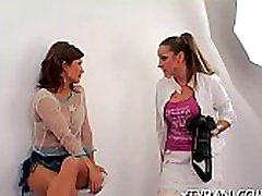 Slutty domination fetish with bound up babe getting dildoded