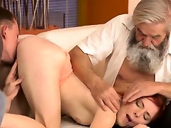 Old young swingers Unexpected experience with an older