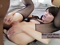 Petite single Mom with Great Looks Get Analized By Huge Black Cock On First