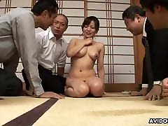Cock hungry Asian babe thin girl and big luns and creampied by horny per