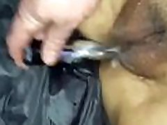 Sub ongon toolson seks wife taking silver bullet in ass and pussy