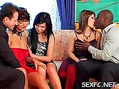 Dressed females sharing dick in concupiscent xxx scenes