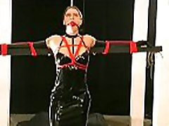 Obedient woman gets tits stimulated in harsh mature hanjob compilation castigation