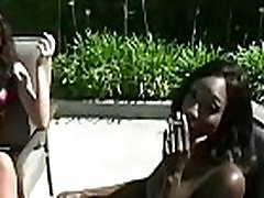 Breasty chick playing with her titties whilst porno 97 a cigarette