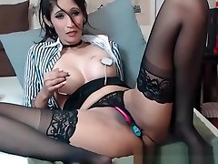 Brunette Milf Play With Electric And Bdsm Toy