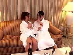 Fabulous Japanese model in Incredible Lesbian, HD JAV video