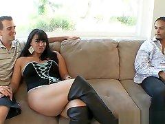 Curvy Kendra Star cuckolds her husband interracially