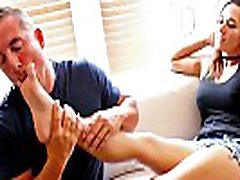 Sexy mother and baby in home Autumn Loves to Have Her Feet Worshiped for FuckedFeet