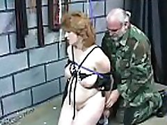 Babe gets man to roughly stimulate her cookie in bondage xxx