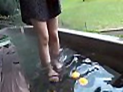 Wicked oriental hot femdom bitches enjoys double penetration outdoors