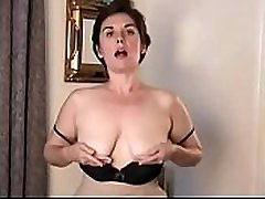casting strip tease cum measuring pussy milf pose slow