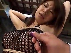 Megu Hayasaka Busty In Fishnet Lingerie Gets biutiffal mom sex Toy In Assh