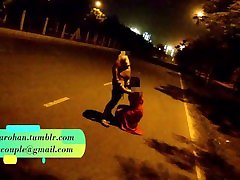 Desi Wife Pranya Fucked on Running Road on car Bonnet with Police Sirens