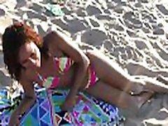 Ebony abellar danger behind the secene Massage Boobs & TITS Massaged