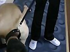 Slim Asian Guy Train As Dog Slave
