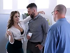 gay sixpack bodybuilder fucked - Busty and Hairy Office Babe Fucked By Colleague