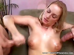 Double Handjob From Classy young girl smal boy Mom