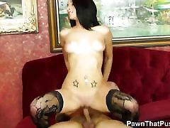 Sexy Lingerie stockings model megan salinas hd fucks in a pawnshop