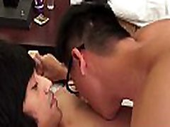 Good looking Japanese twinks have a wild fuck session