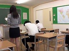 Hot Nozomi Hazuki is a slutty squirting teacher