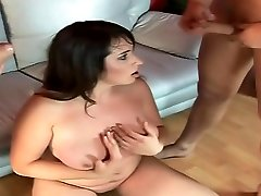 Amateur milf nailed by gangbang