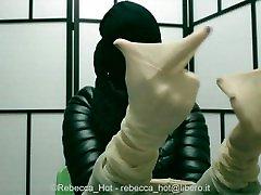 Rebecca Hot in nylon encasement