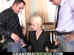 Skinny blonde porno 2min mature woman swallows two cocks