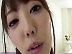 Pleasant asian arouses with fantastic blowjob during three-some