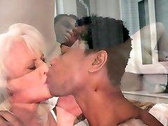European grandma slammed interracially