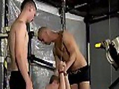 Boys bondage gay Luca has no choice, the guys lash him into