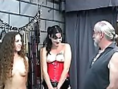 Rough spanking and harsh servitude on woman&039s pussy