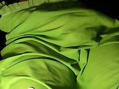 Vintage green nylon slip spurt