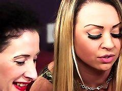 Gorgeous babes enjoy CFNM domination