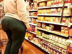Epic bbw monster ass green pants shopping!