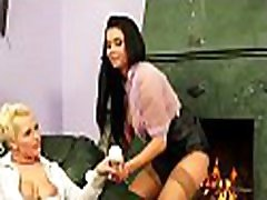 Hot lesbian gets big butt spanked hard and sweet pussy licked