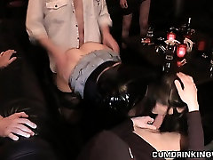 Slutwife gets gangbanged at dungeon club