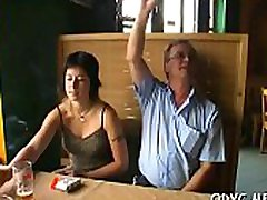 Hot old and young act with hot teen stud agent finger screwed