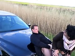 german hitchhiker mature pays with rough outdoor sex cumshot