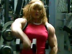 OMG biggest female bodybuilder in gym