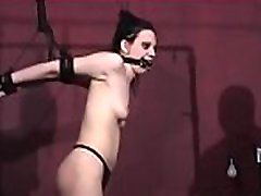 Busty girl gets extremely slutty while being bounded tight