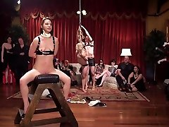 tired step son Orgy Party With Latex And Spanking