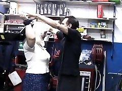 Bounded guy endures pain as mastix goes full bar brazzer on him