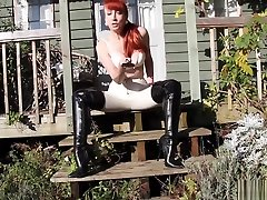 silver seduction Redhead Red Plays With Her Twat