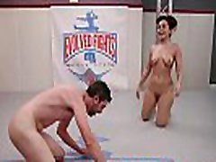 Gabriella Paltrova and Jay West fight dirty in a hot mixed gender, winner fucks loser lila test match