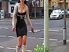 Mega Sexy PartyDisco Outfit: Ich trage kniehohe schwarze Stiefel und ein Latex Minikleid...weil ich ein M&aumldchen bin ihr gottverfickten scheiss Transvestitenschweine