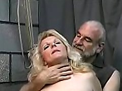 Bizarre thraldom old men village with cutie obeying the dirty play
